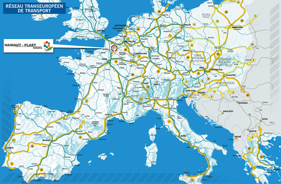 European road network conditions